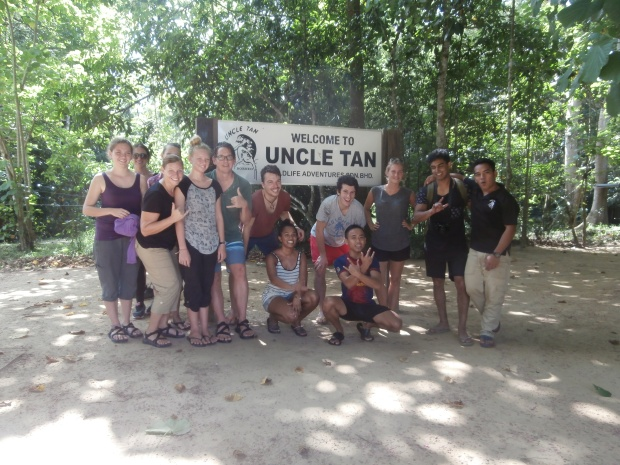 Us, some twenty somethings, and our jungle guides who may or may not have stolen our money