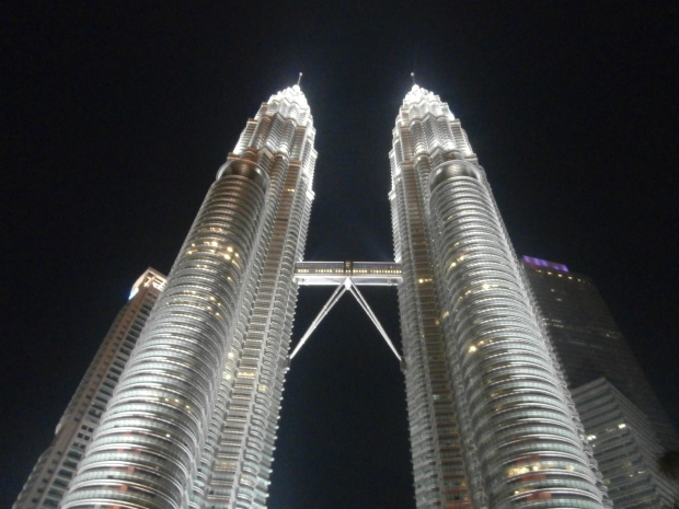 Sparkly twin towers
