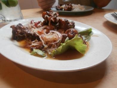Chicken in Teksen house sauce - yum!