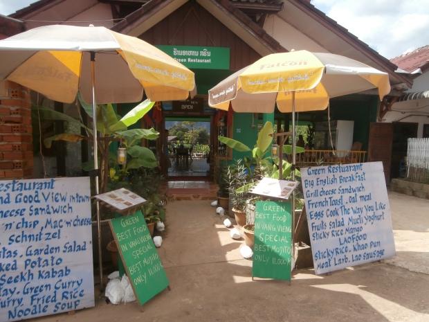 Green Restaurant Vang Vieng