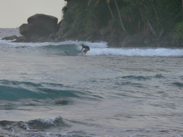 Surfing in Mirissa, Sri Lanka